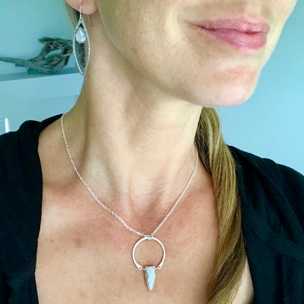 Warrior Necklace with Peach Moonstone