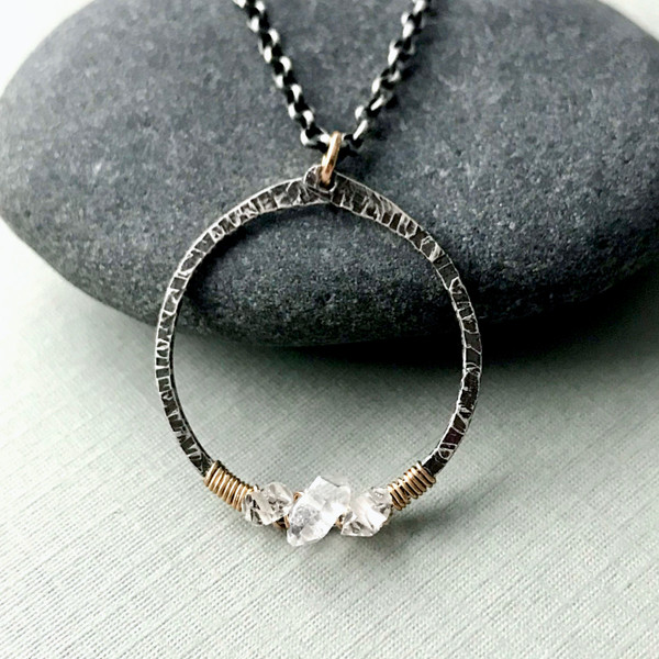 Herkimer Diamond Trio Necklace