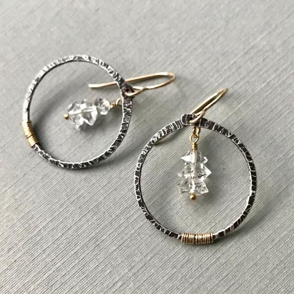 Herkimer Diamond Trio Earrings