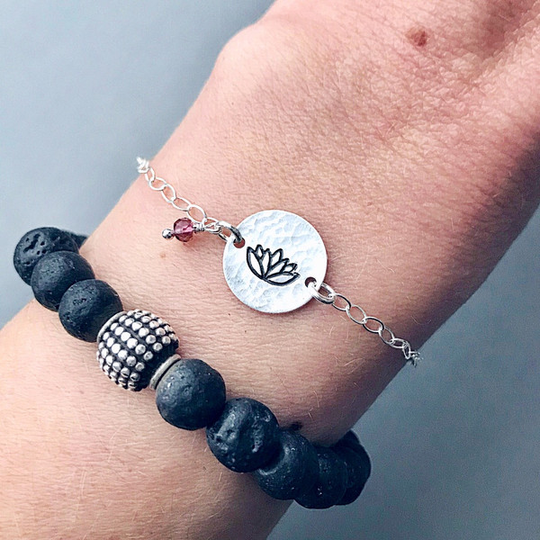 Meaningful Symbol Bracelet with Birthstone