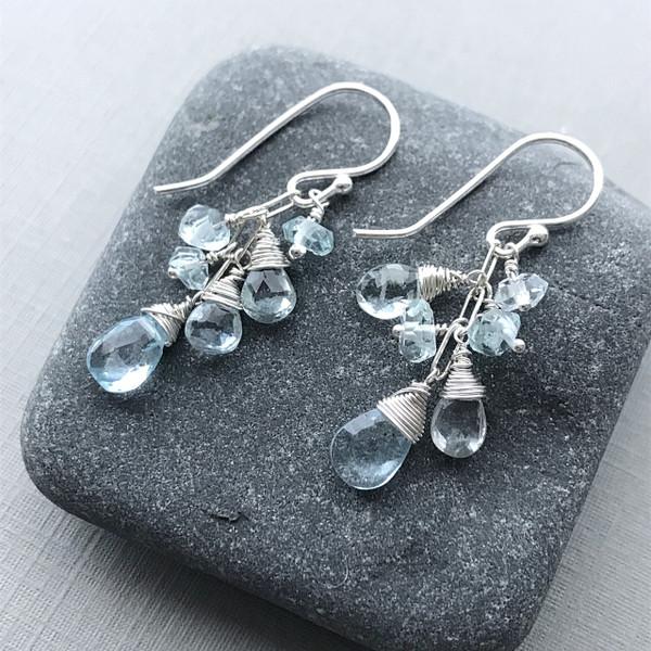 Aquamarine Gemstone Earrings
