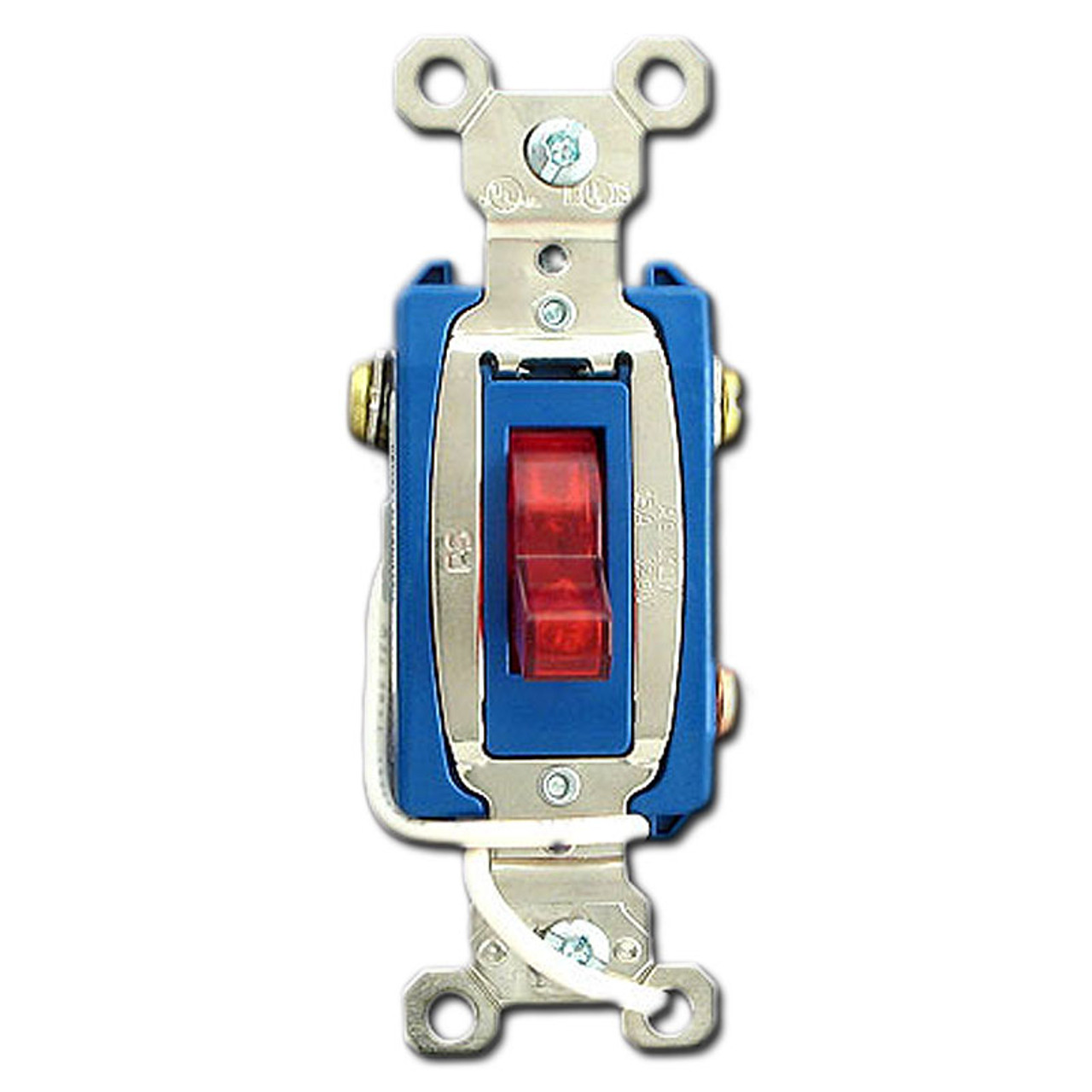 3 Way 15a Red Pilot Light Toggle Switch P U0026s Ps15ac3