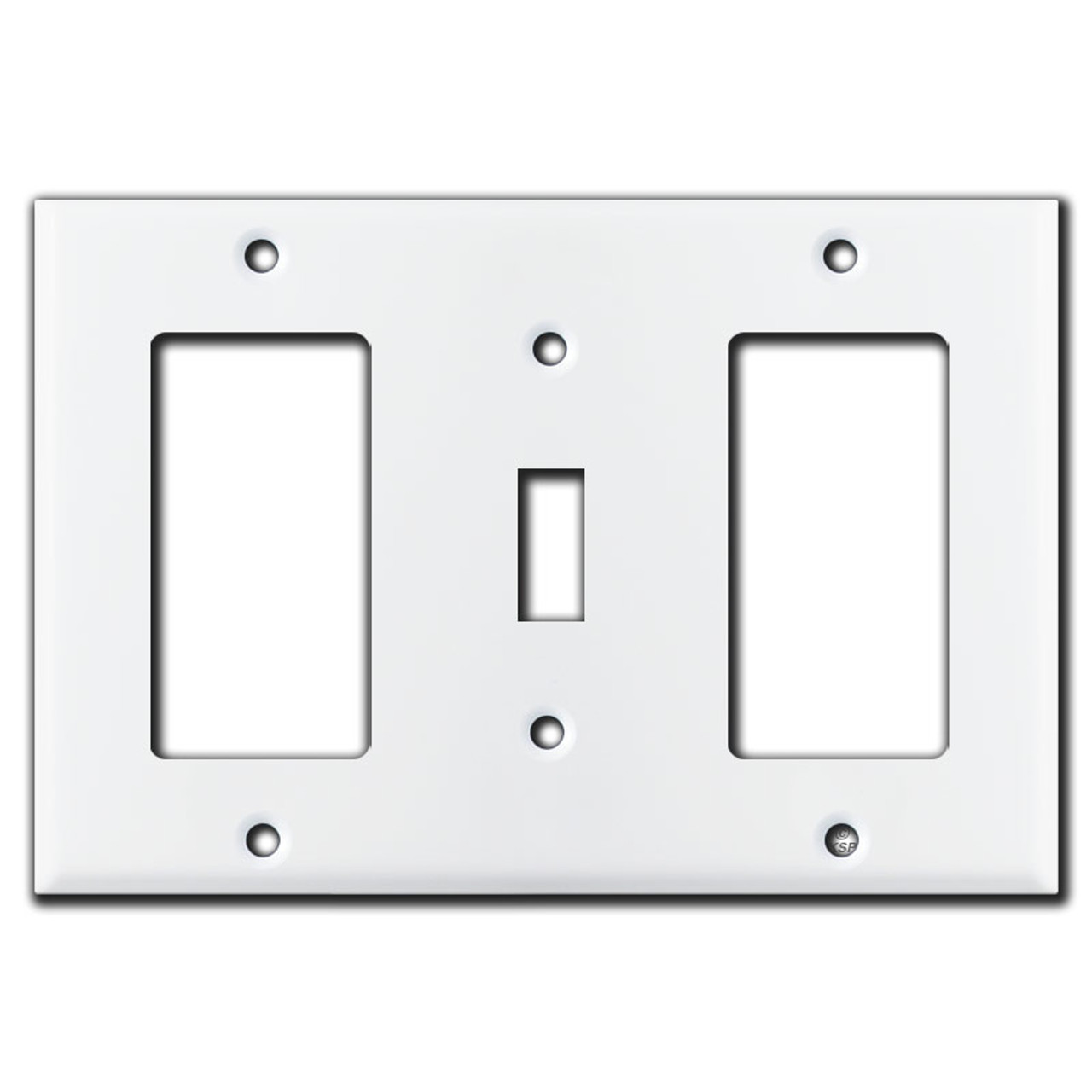 Decor Toggle Decor 3 Gang Wall Switch Plates