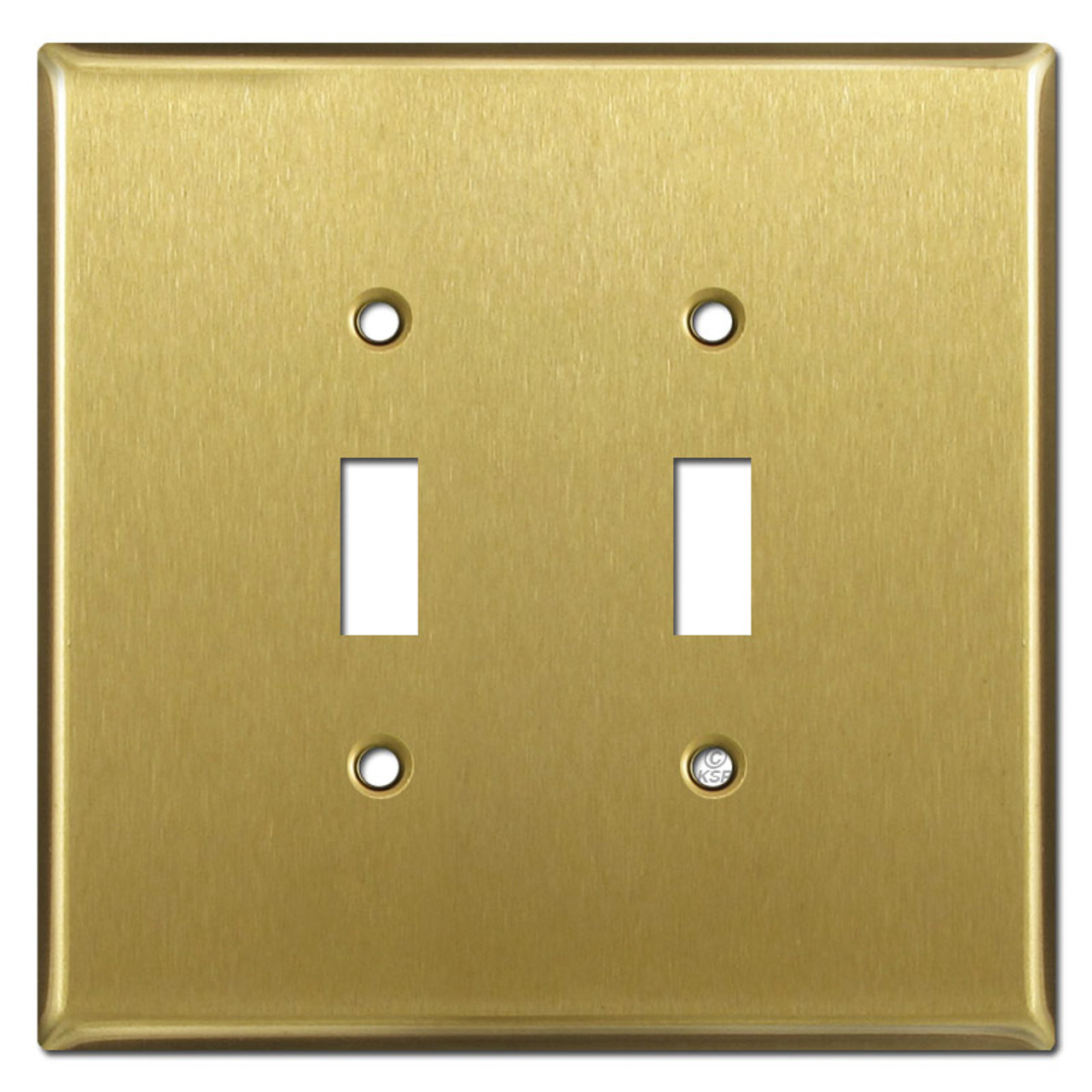 Oversized 2 Toggle Light Switch Covers Satin Brass