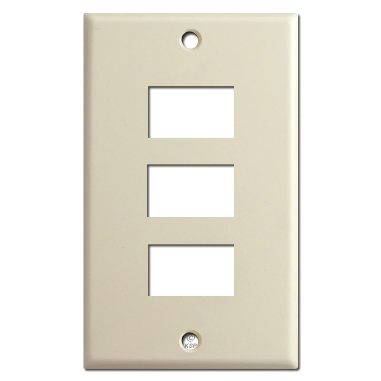 Ge Old Style Low Voltage Triple Light Switch Wall Plate