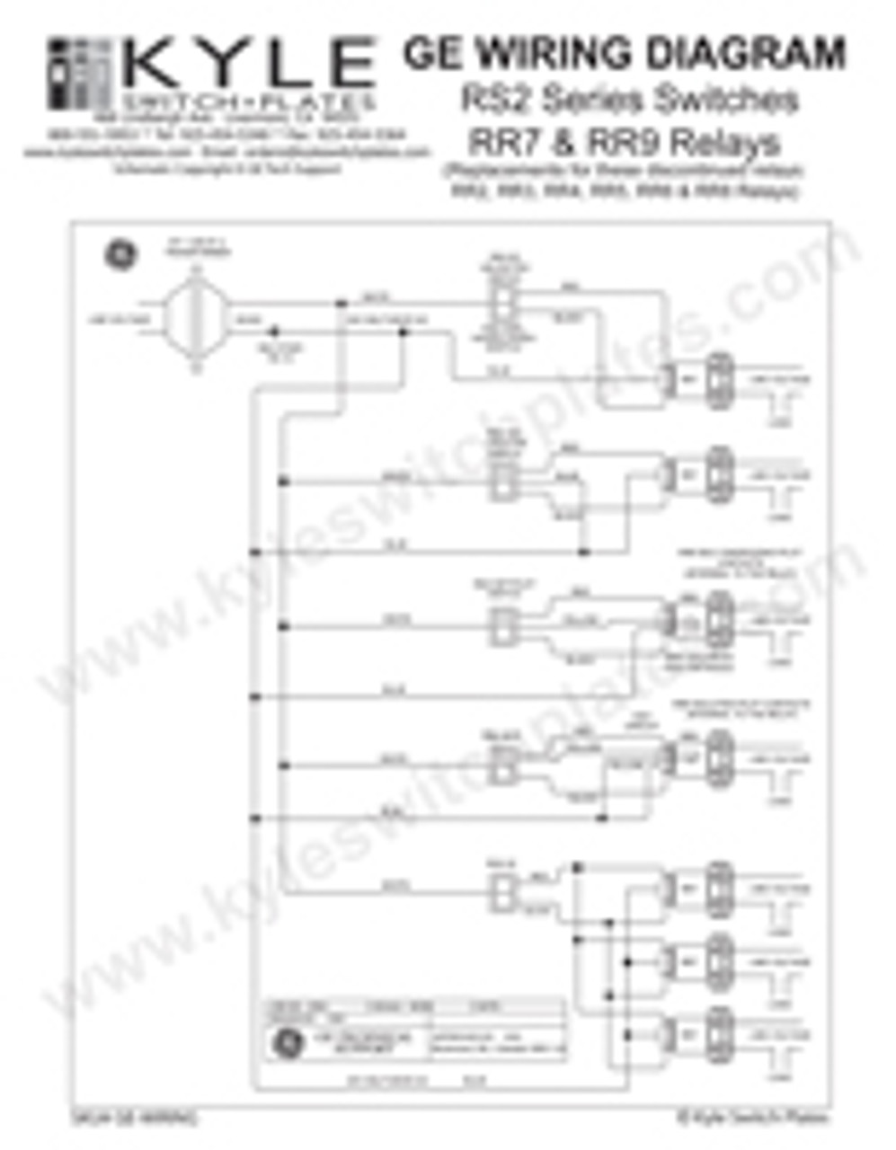 GE Low Voltage Switch & Relay Wiring Instruction Guide | Ge Rr8 Relay Wiring Diagram Schematic |  | Kyle Switch Plates