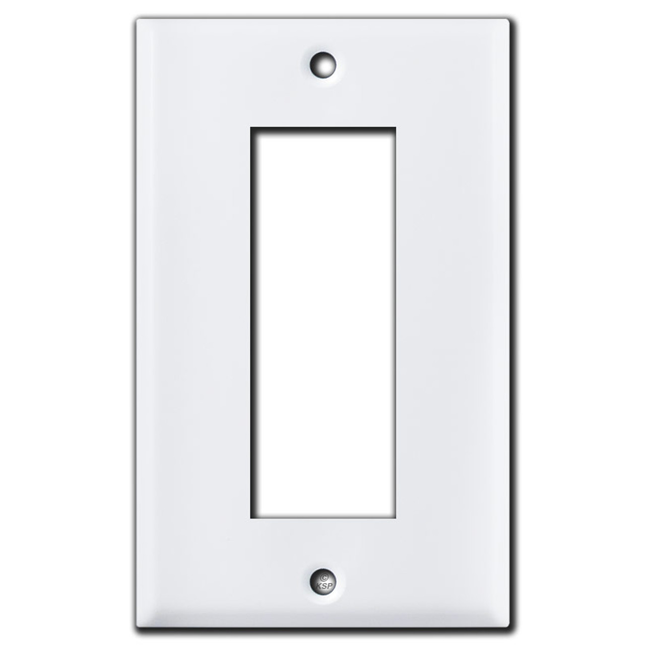 Old Style Sierra Electric Biplex Triplex Outlet Cover Plates White