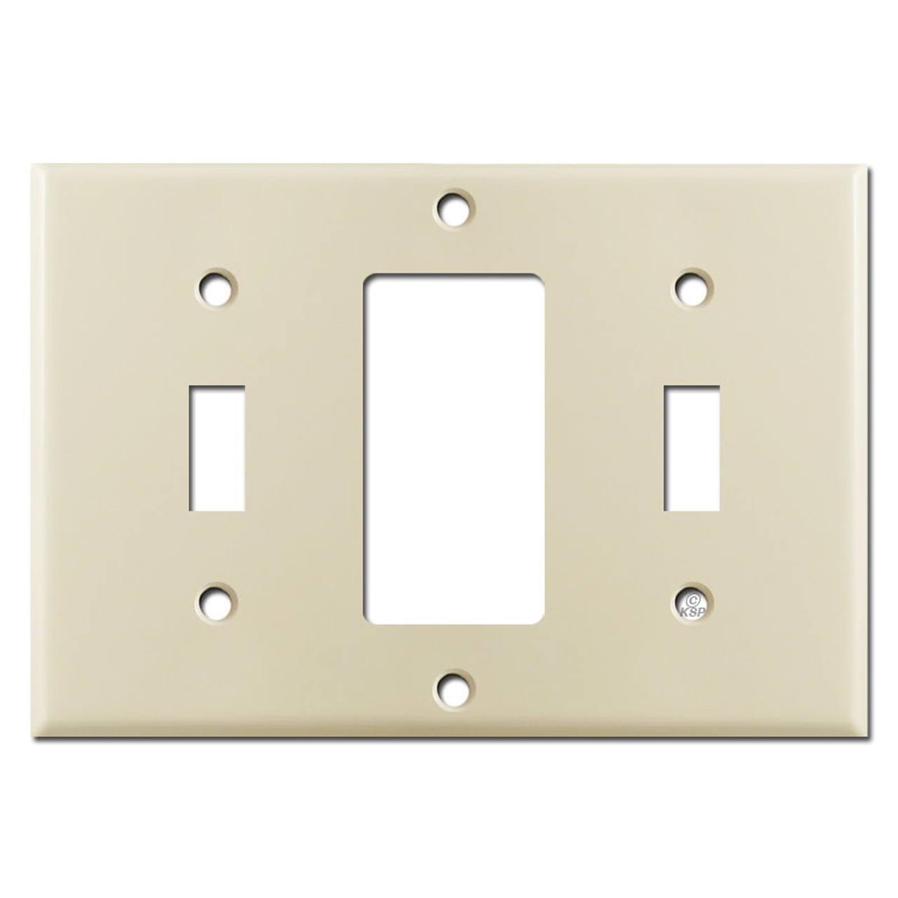 Toggle Rocker Toggle Combo Triple Wall Switch Plate Cover Ivory