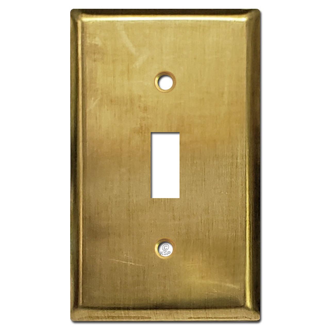 1 Toggle Light Switch Plates Unfinished Raw Brass