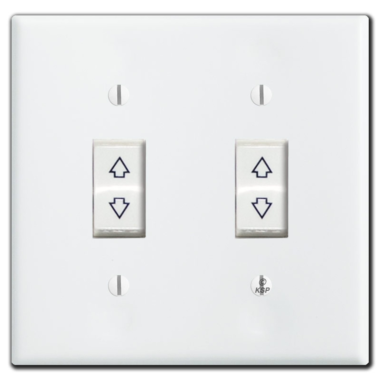 Somfy Motorized Blinds 2 Switch Wall Plate Covers