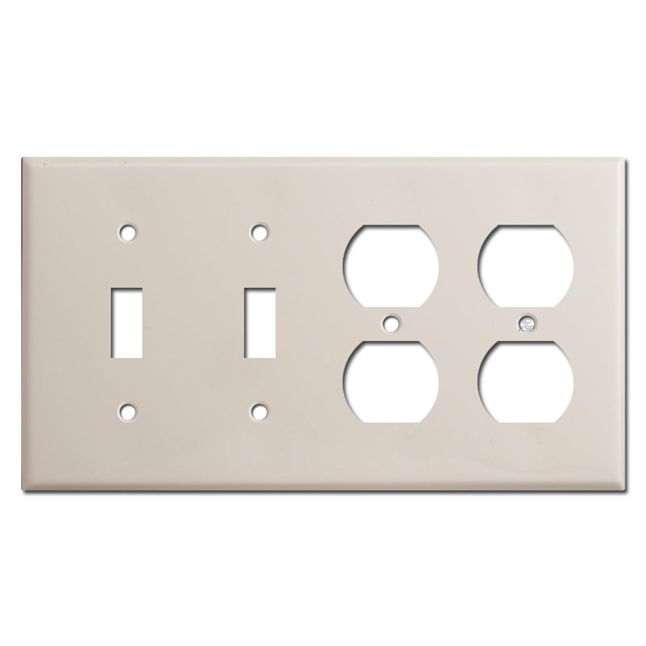 2 Toggle 2 Outlet Cover Switch Plates Light Almond