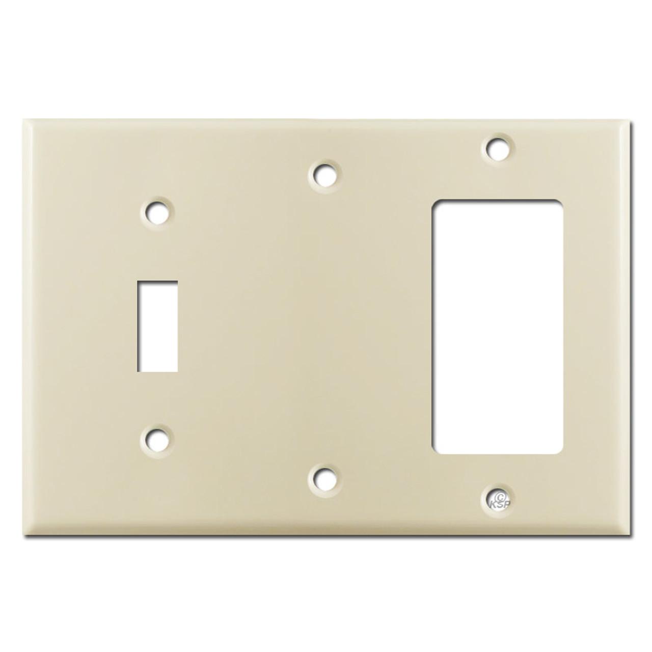 1 Gfci Rocker 1 Blank 1 Toggle Switchplate Ivory Kyle Switch Plates