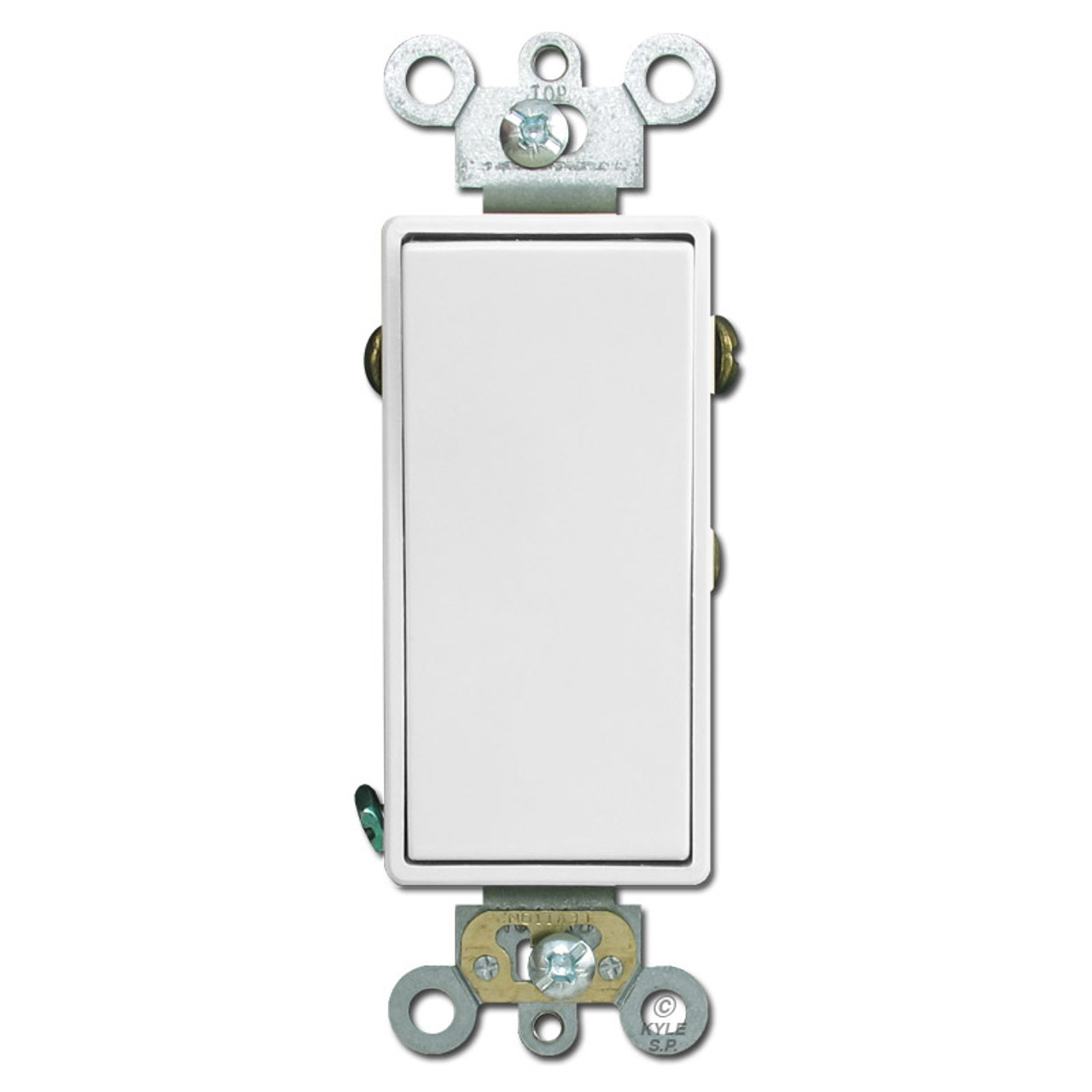 Leviton White SPDT DOUBLE THROW Center-Off Maintained Contact Switch 15A 1281-W