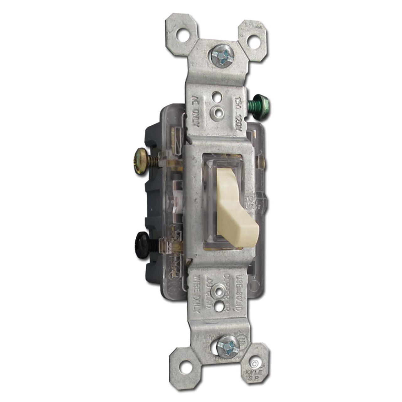 Ivory 3 Way Illuminated Toggle Switch 15a