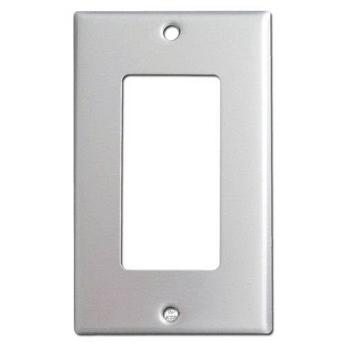 1 Rocker Switch Plate - Brushed Aluminum