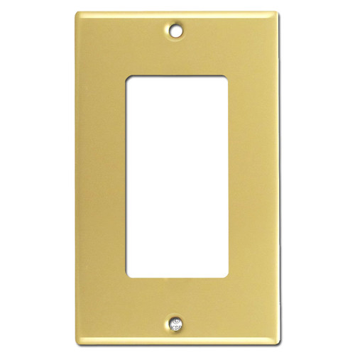 1 GFCI Rocker Switch Plate - Polished Brass
