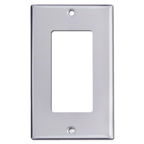 1 Decora Switch Plates - Polished Silver Chrome