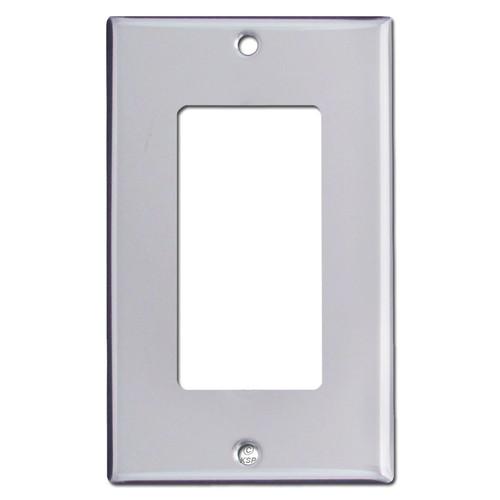 1 Decora Switch Plates - Polished Silver Chrome