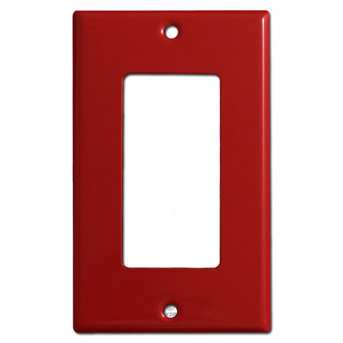 Single Decora Rocker Light Switch Plates - Red