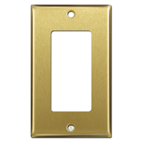 1 Decora GFCI Switch Plate Covers -  Satin Brass