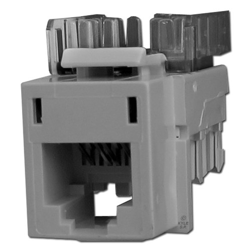 Gray Modular USOC Phone Jacks for Hubbell Frame