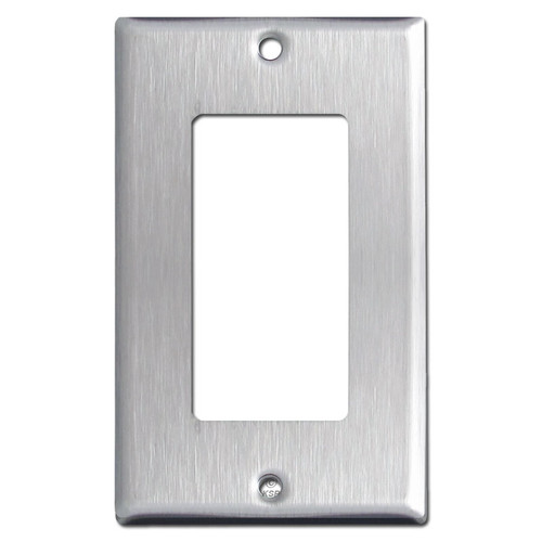 Single Decora Rocker Switch Cover - Spec Grade 302 Stainless Steel