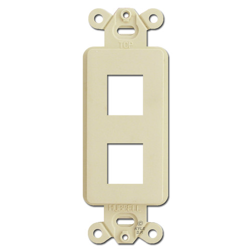 Ivory 2 Port Frame for Hubbell Modular Jack Adapters