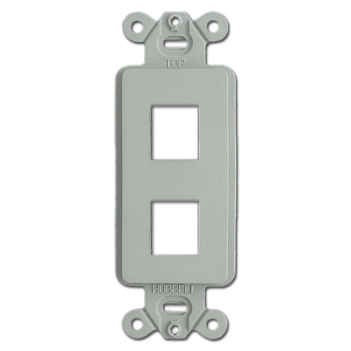 Gray 2 Port Frame for Hubbell Modular Jack Adapters