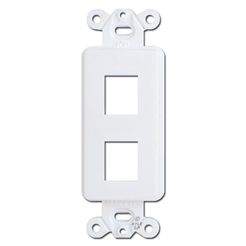 White 2 Port Frame for Hubbell Modular Jack Adapters