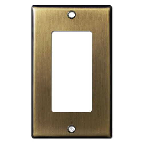 1 Rocker Switch Wall Plates -  Antique Brass