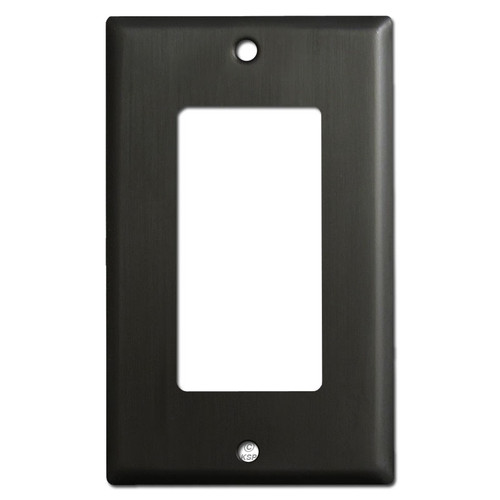 1 Rocker Light Switch Covers - Dark Bronze