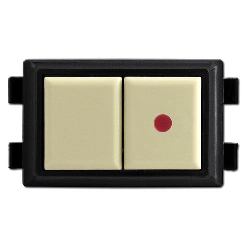 Ivory GE RS232P Low Voltage Pilot Light Switch - NO LONGER HAS RED DOT.