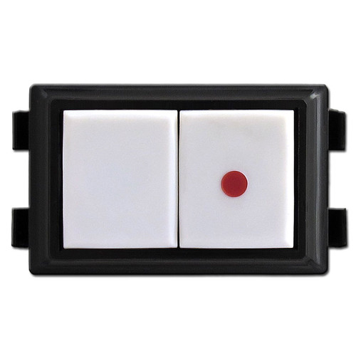 White GE RS237P Low Voltage Pilot Light Switch