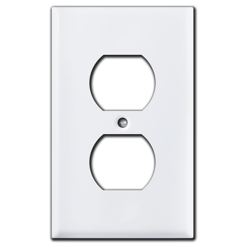 Duplex Outlet Wall Plate - White