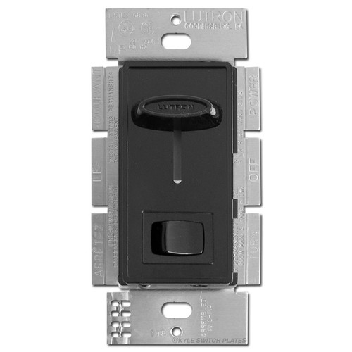 Black 600W Slide Dimmer  3 Way Switches with On Off Button