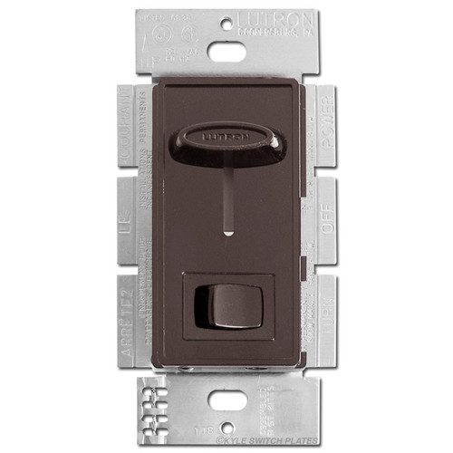 600W 3 Way Brown Slide Dimmer Switch with On Off Button