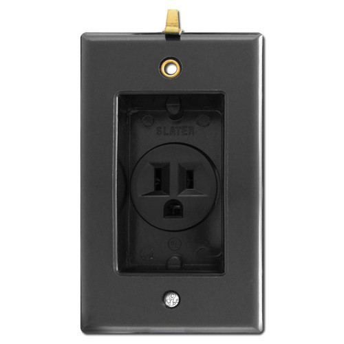 Black Clock Hanger Outlet for Flat Panel TV's