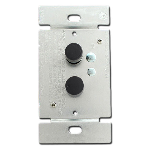 Black Push Button Dimmers - 3 Way 600 Watt