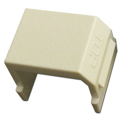 Ivory Snap-In Blank for Hubbell Frame