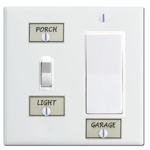 Light Switch ID Tags for Switch Plates