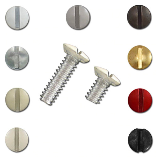 8 Standard Length Screws for Light Switch Plates