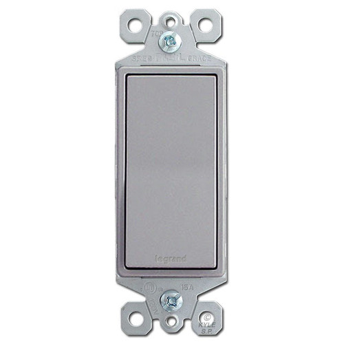 Gray 15A Rocker Light Switch