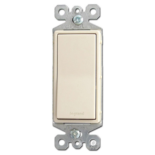 Light Almond Decorator Rocker Light Switches