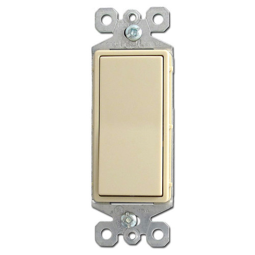Ivory 3 Way Lighted Rocker Switches