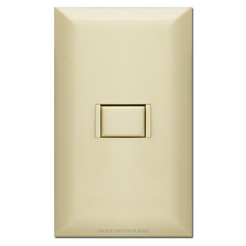 Ivory Touch Plate 5000 Series Low Voltage Single Switch with Plate