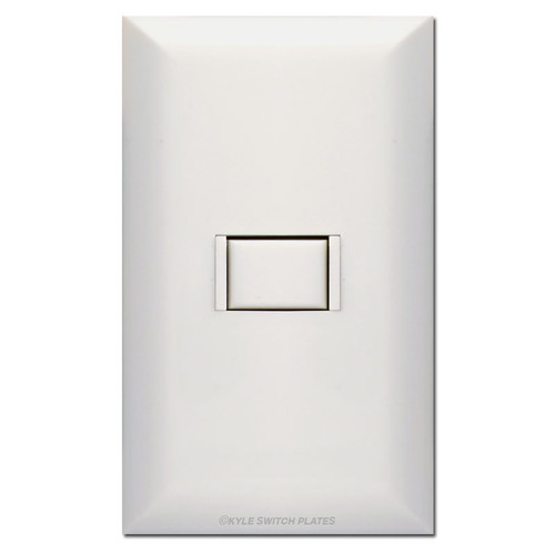 Touchplate 5000 Low Voltage White Single Switch Station & Plate