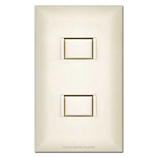 Almond 2-Button Touch Plate 5000 Series Low Voltage Switch & Plate