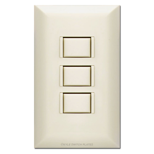 Almond 3 Button Touch Plate Low Voltage Switch & Cover