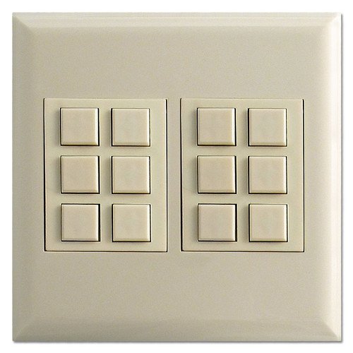 Almond TouchPlate Low Voltage Classic 12 Switch Station & Plate
