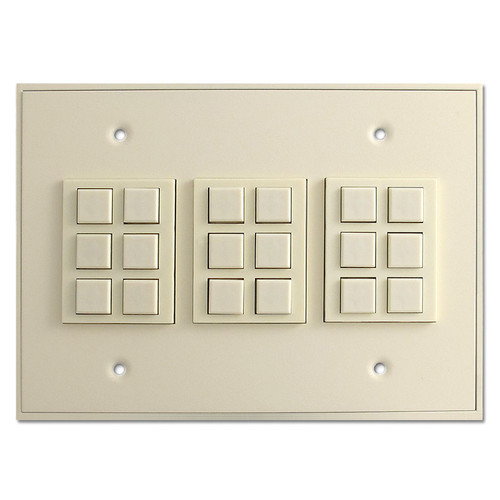 Almond Touch-Plate Low Voltage Classic 18 Switch Station
